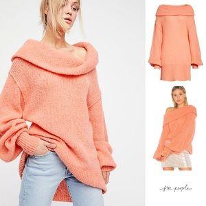 Free People oversized chic sweater tunic dress